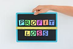 Measure your profit and your losses concept Royalty Free Stock Images