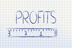 Measure your profits Royalty Free Stock Photography