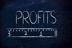 Measure your profits Royalty Free Stock Images
