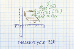 Measure your success Royalty Free Stock Photos