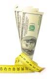 Measured dollars Stock Photo