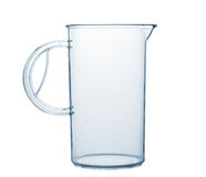 Measured transparent empty glass Stock Image