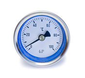 Measurement. Pressure on the white backgrounds Stock Image