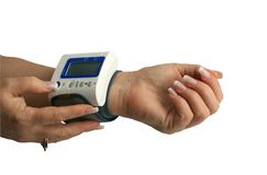 Measurement of arterial pressure Royalty Free Stock Photos