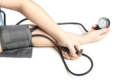 Measurement of arterial pressure Stock Photo