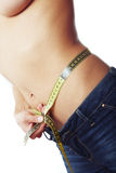 Measurement of belly Stock Photography
