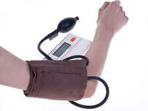 Measurement of a blood pressure Royalty Free Stock Images
