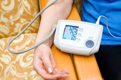 Measurement of blood pressure Stock Photo