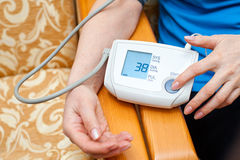 Measurement of blood pressure Royalty Free Stock Image