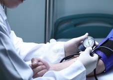 Measurement of blood pressure Royalty Free Stock Photos