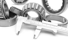 Measurement diameter bearing Royalty Free Stock Photos