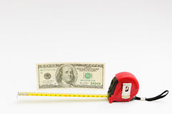 Measurement of a dolla Stock Photos