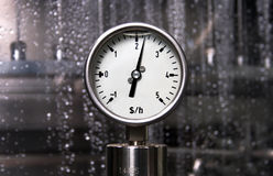 Measurement - Dollar per hour. Pressure measurement - Dollar per hour Stock Images