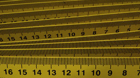 Measurement equipment. Accurate measure centimeter rulers closeup Stock Photography