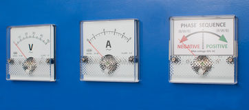 Measurement equipment on a panel Stock Photography