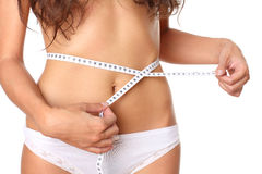 Measurement of female waist Stock Image