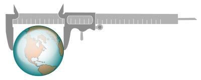 Measurement of glob. Illustration image vector illustration