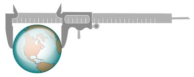 Measurement of glob vector illustration