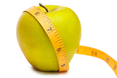 Measurement of apple Royalty Free Stock Photo