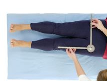 Measurement of hip joint abduction Stock Photography