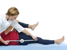 Measurement of hip joint contraction Stock Photography