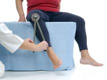 Measurement of hip joint external rotation Stock Photography