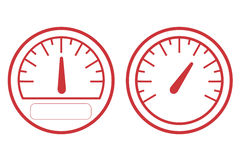 Measurement icon , white background Stock Photography