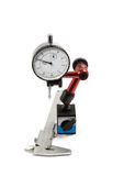 Measurement instrument. Precision mesurement instrument isolated on white background Royalty Free Stock Photo