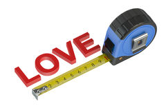 Measurement of love concept Royalty Free Stock Image