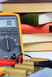Measurement with multimeter test Royalty Free Stock Images