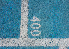 Measurement Numbers on a Running Track Royalty Free Stock Images