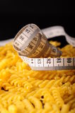 Measurement on pasta Stock Images