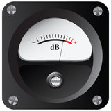 Measurement of sound intensity Stock Images