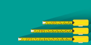 Measurement tape background  Royalty Free Stock Image