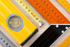 Measurement tools background royalty free stock image