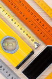 Measurement tools background Stock Photo