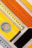 Measurement tools background Stock Photo