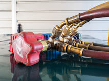 Measurement tools the refrigerant. Stock Images