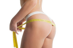 Measurement of waist and hips Royalty Free Stock Image