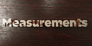 Measurements - grungy wooden headline on Maple  - 3D rendered royalty free stock image Royalty Free Stock Images