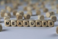 MEASURES - image with words associated with the topic RECRUITING, word, image, illustration Royalty Free Stock Images