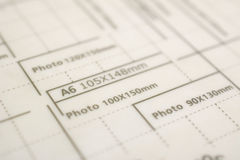 Measures for paper size A6 Royalty Free Stock Image