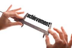 Measuring achievement Stock Photography