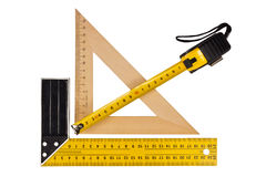 Measuring the angle and length Royalty Free Stock Photography