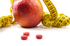 Measuring Apple Royalty Free Stock Photo