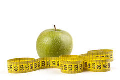 Measuring Apple Royalty Free Stock Images