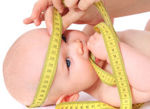 Measuring babys head Royalty Free Stock Photo