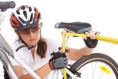 Free Measuring Bike Saddle Royalty Free Stock Photography - 27761017