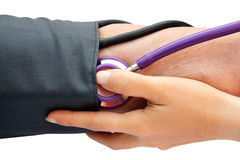 Measuring blood pressure Royalty Free Stock Image