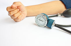 Measuring  blood pressure Royalty Free Stock Photo